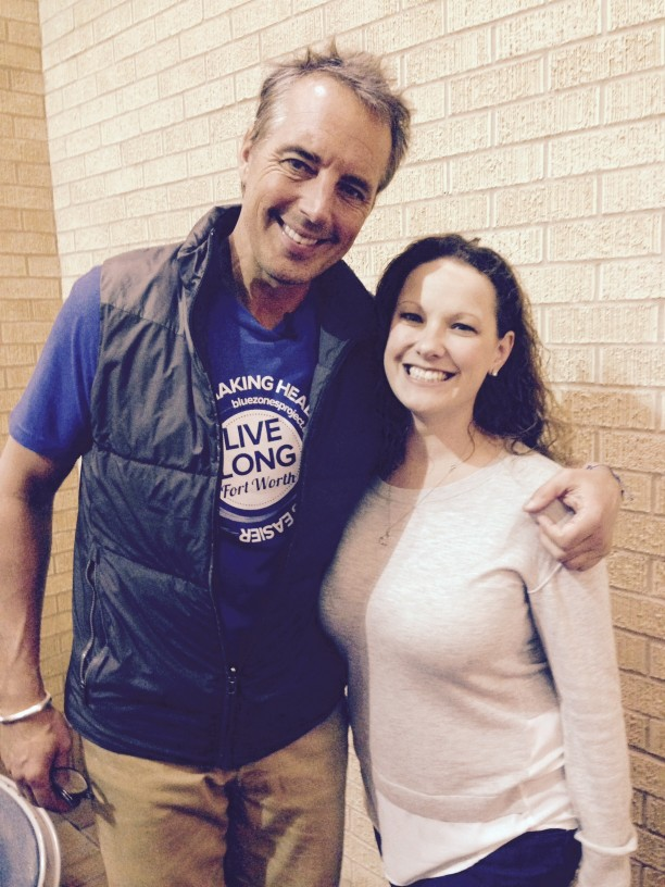 Cambridge Employee Wendy Pearson with Blue Zone's Author, Dan Buettner