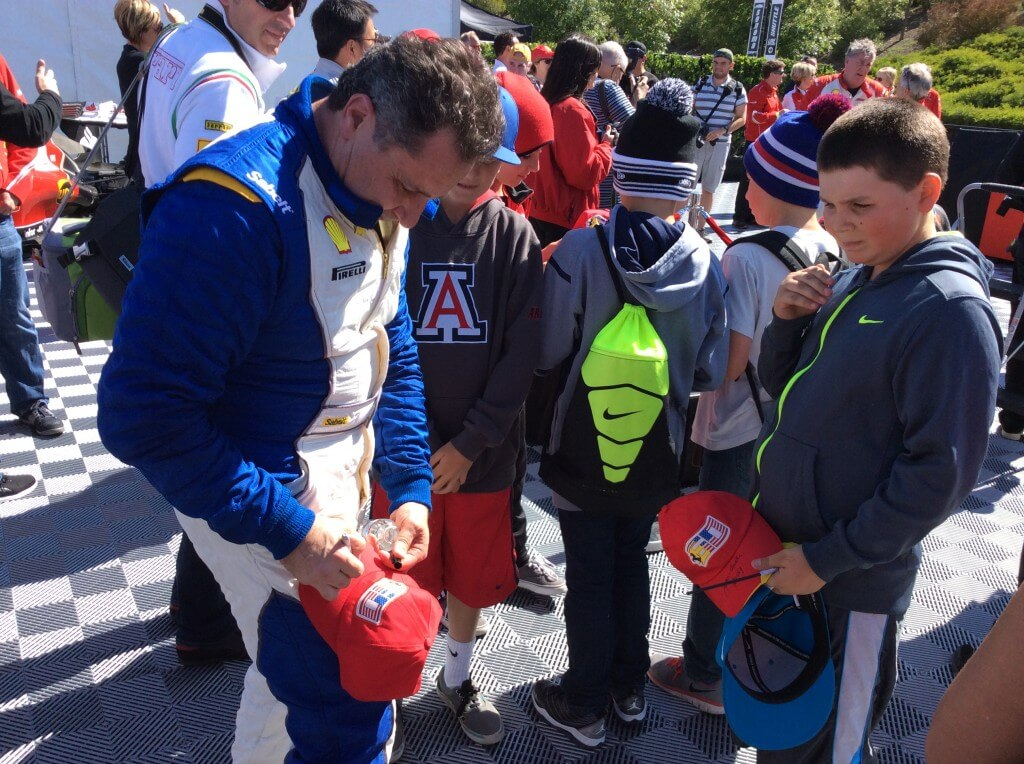 post race autographs