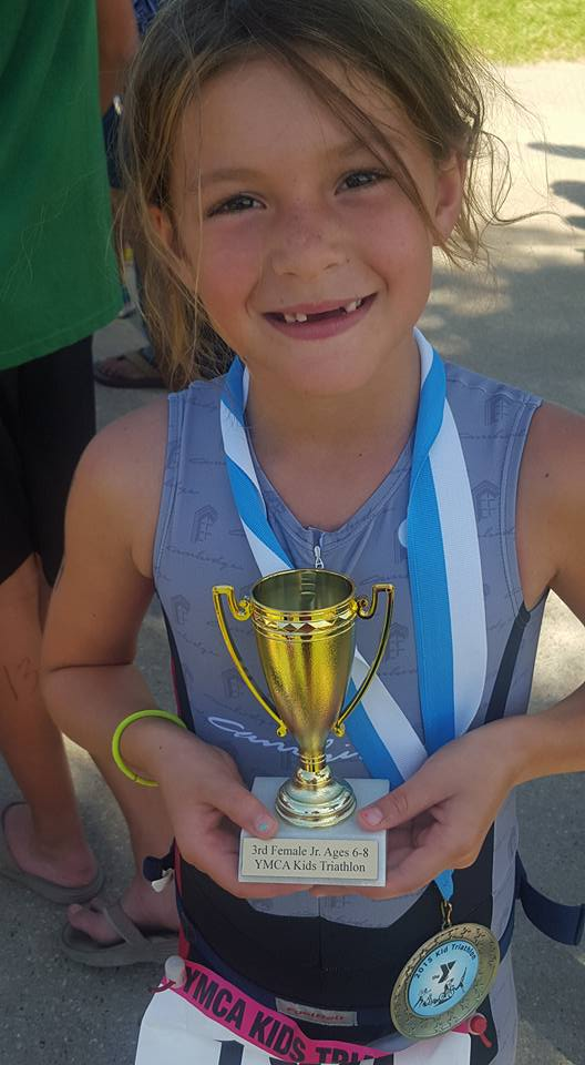Kiley with trophy