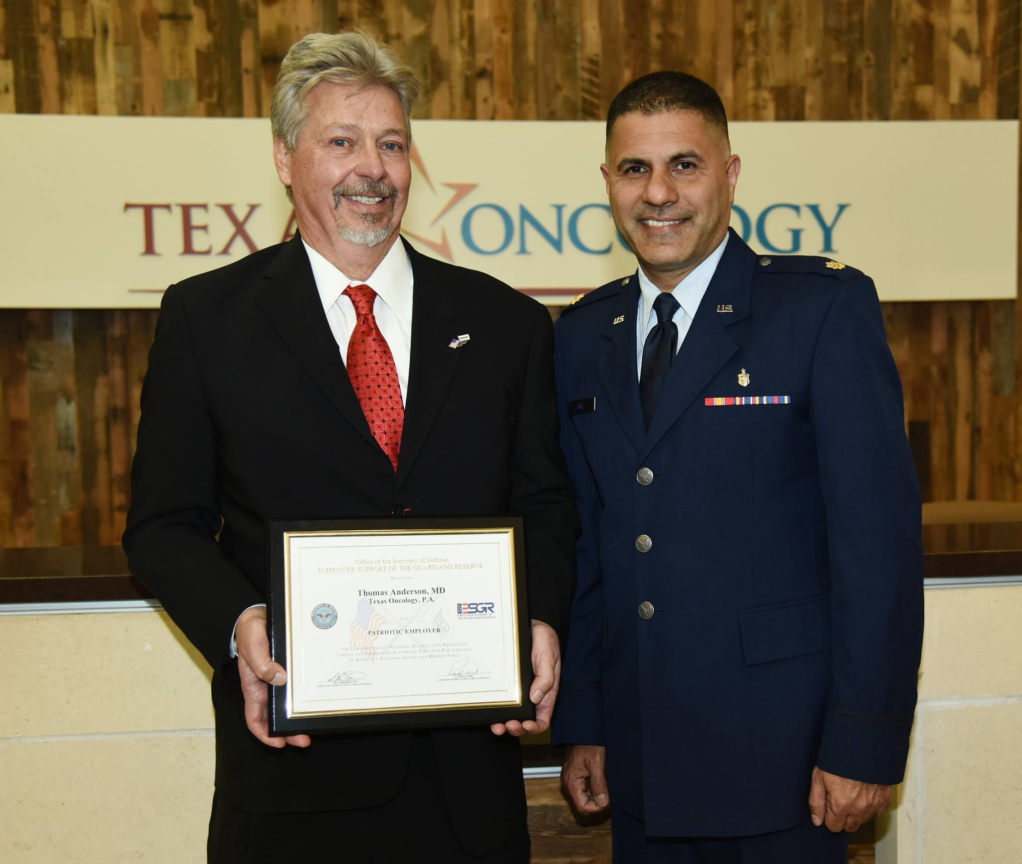 60719a05df3 Texas Oncology Physician Honored with Patriot Award - Cambridge