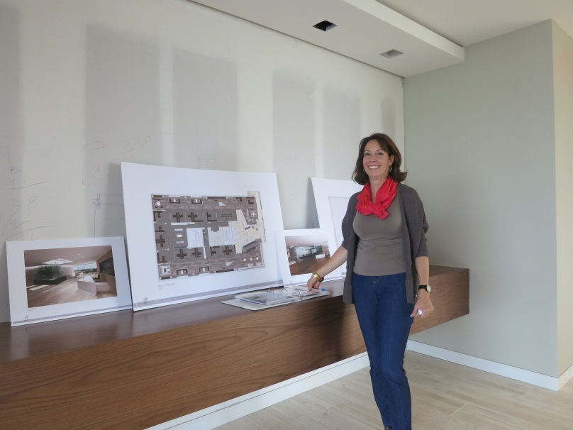 Carol Cumbie shows off the new finishes